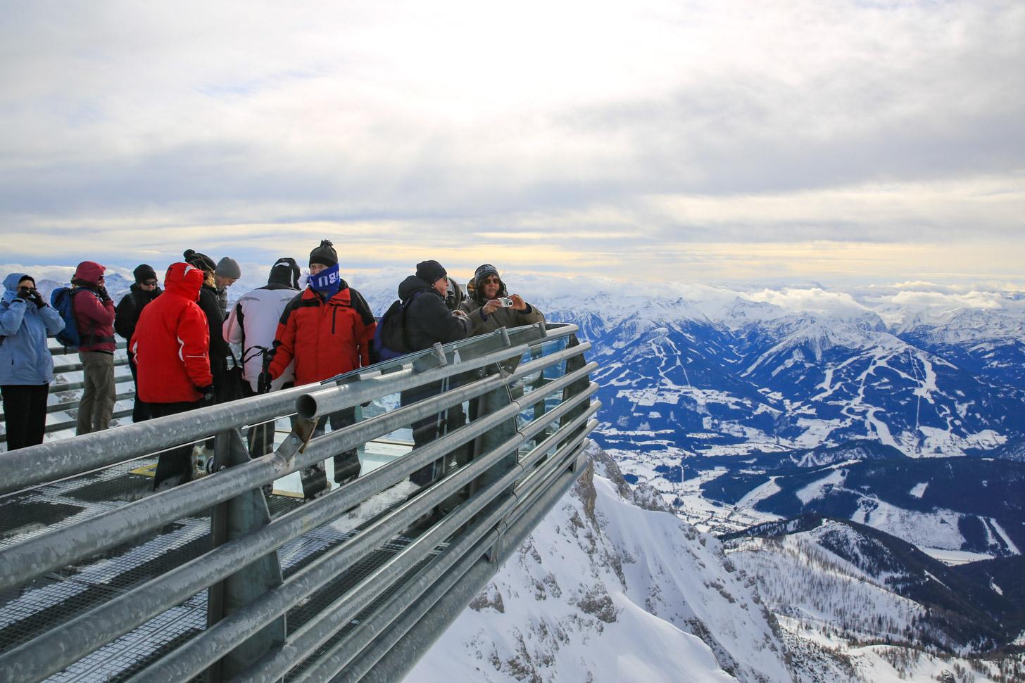 Uitzicht vanaf de Dachstein