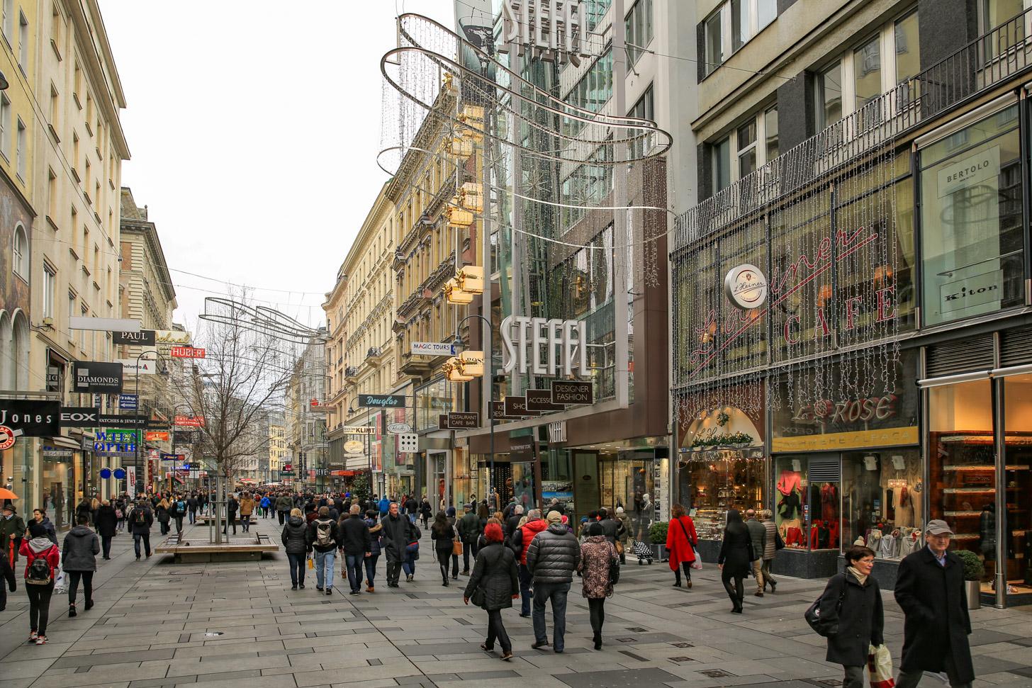 winkelstraat in Wenen